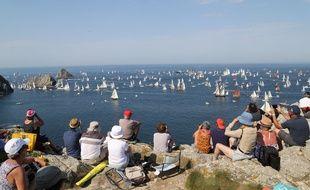 Des dizaines de milliers de personnes ont assisté aux parades des bateaux aux Fêtes maritimes de Brest 2016. Ici à Camaret-sur-Mer.