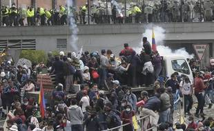 Violences à Quito lors des manifestations du 11 octobre 2019.