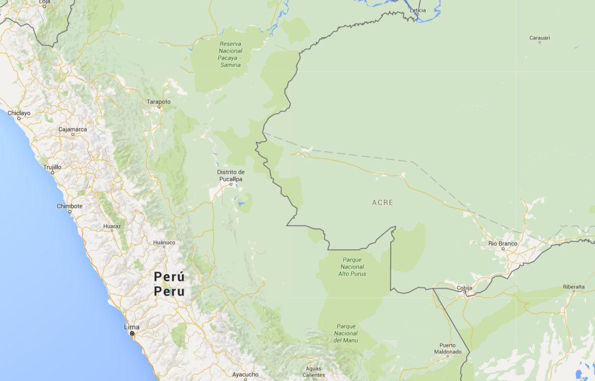 La ville d'Iquitos au Pérou. – Capture d'écran / Google Maps