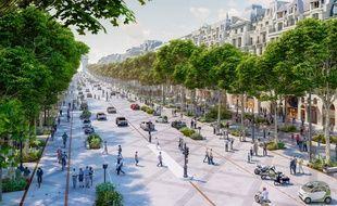 Les Champs-Elysées imaginés à l'horizon 2030.