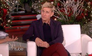 La présentatrice Ellen DeGeneres sur le plateau de son émission