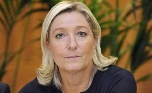La présidente du Front National Marine Le Pen, le 2 octobre 2014 près de Clermont-Ferrand