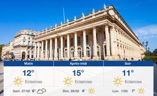 Météo Bordeaux: Prévisions du vendredi 26 février 2021