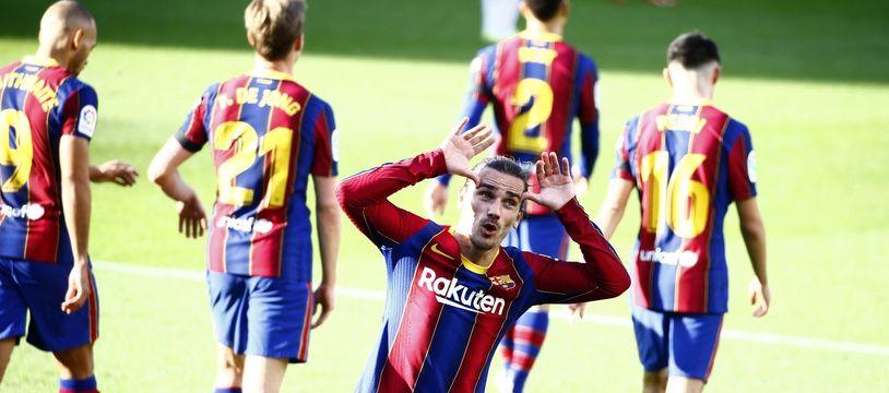 Antoine Griezmann après son but face à Osasuna
