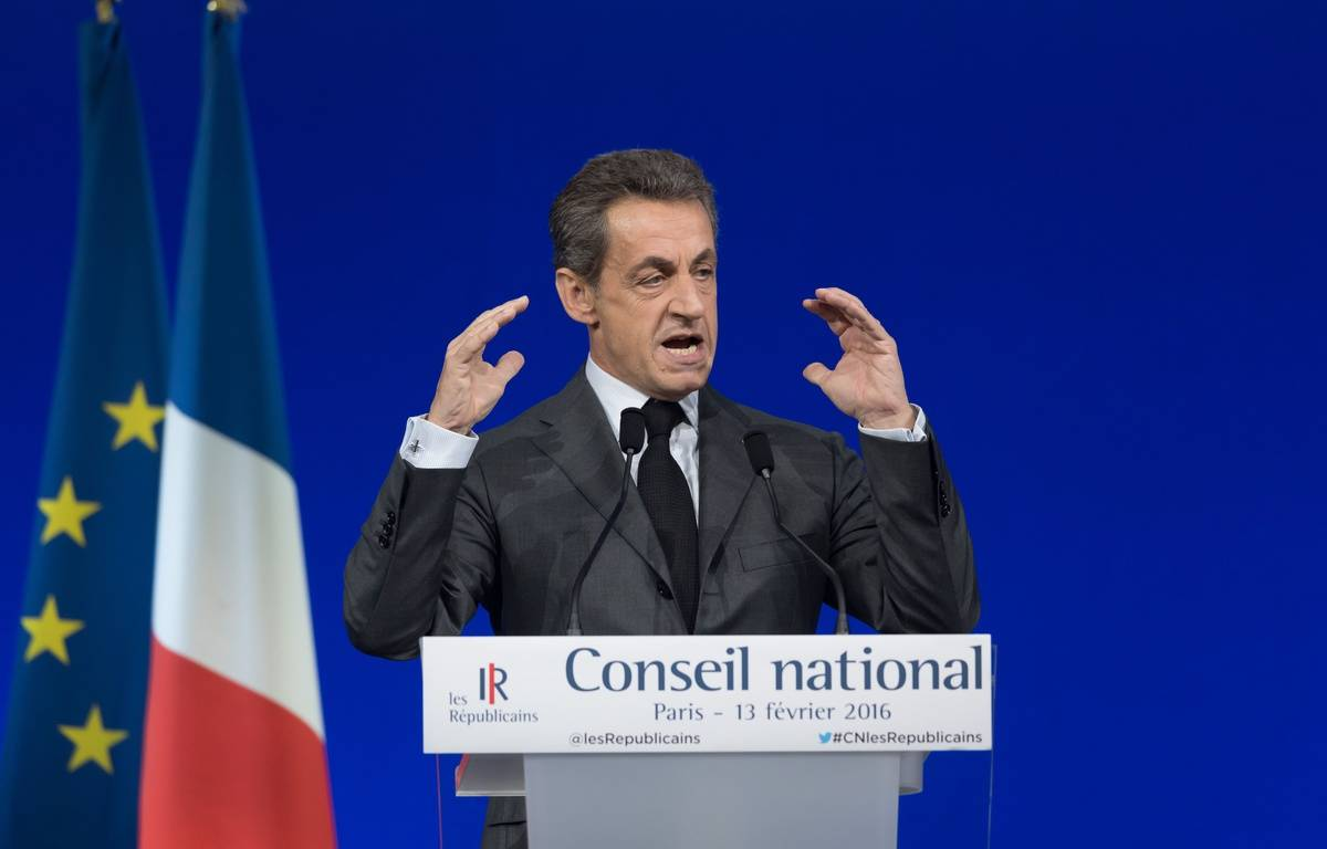 Nicolas Sarkozy, au Conseil national Les Républicains. 13/02/2016. Credit:WITT/SIPA/1602131844 – SIPA