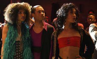 Indya Moore (Angel), Ryan Jamaal Swain (Damon) et Mj Rodriguez (Blanca) dans la nouvelle création de Ryan Murphy, «Pose».