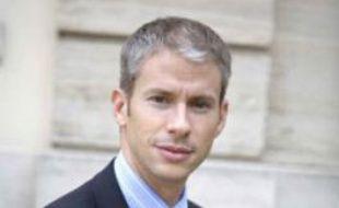 """Franck Riester, député de Seine et Marne, maire de Coulommiers, rapporteur du texte de loi """"Création et Internet"""". Photo prise à Paris en octobre 2008."""