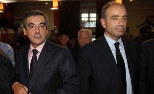 François Fillon et Jean-François Copé aux journées parlementaires de l'UMP à Marcq-en-Baroeul, le 27septembre 2012.