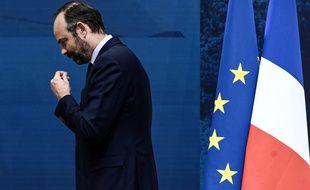 Edouard Philippe, le Premier ministre, au Grand Palais, à Paris, lundi, lors de la restitution du grand débat national.
