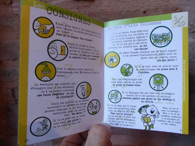 Le guide des Colosses donne des conseils aux enfants et adolescents, ici les 5-10 ans, pour les sensibiliser aux risques pédophiles.