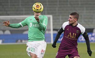 Marco Verratti a tenté de faire disparaître l'ASSE et son milieu offensif Romain Hamouma.