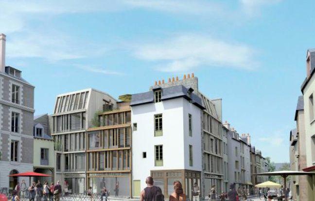 Le visage de la future place Saint-Michel, à Rennes, ravagée par un incendie en 2010.