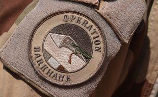 Un écusson de l'opération Barkhane au Mali.