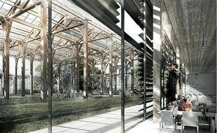 Le futur groupe scolaire des bassins à flot, rue de la Faïencerie à Bordeaux, ouvrira en 2014.