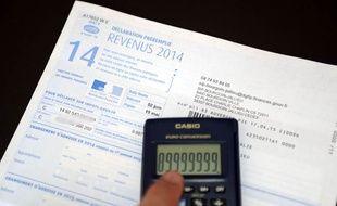 Impôt sur le revenu, illustration.