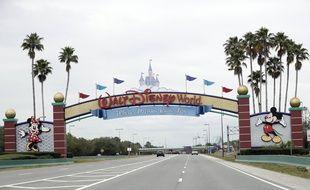 L'entrée de Disney World en Californie, le 16 mars 2020.