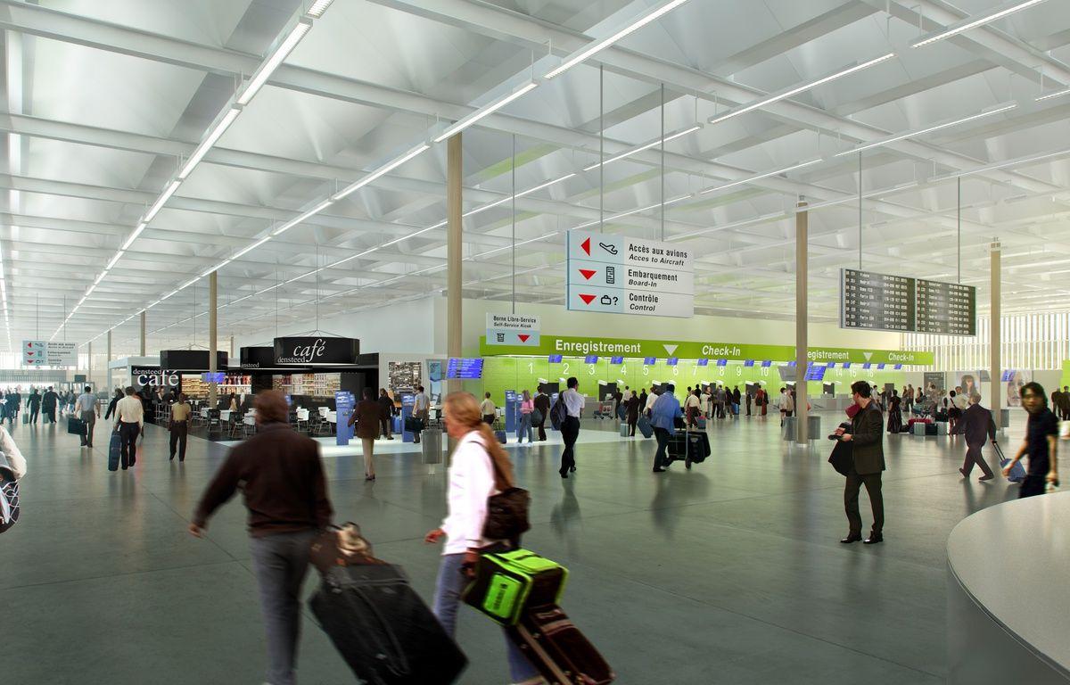Image de synthèse du futur aéroport de Notre-Dame-des-Landes. – ©JFA