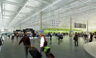 Image de synthèse du futur aéroport de Notre-Dame-des-Landes.
