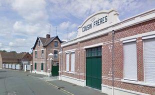 L'entrée de l'usine Cousin de Wervicq-Sud, au nord de Lille
