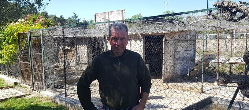 Hervé Eurzet, retraité et président d'une société de chasse dans le petit village d'Assas, dans l'Hérault.