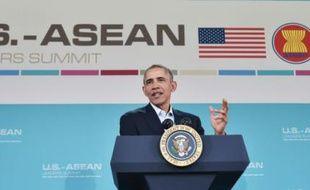 Le président américain Barack Obama au sommet de l'Asean à Rancho Mirage, en Californie le 16 février 2016