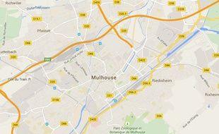 Mulhouse dans le Haut-Rhin (Alsace).