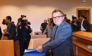 Le sénateur ex-PS Jean-Noël Guérini au tribunal correctionnel de Marseille, le 13 octobre 2014