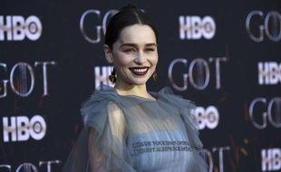 Emilia Clarke lors de l'avant-première de l'ultime saison de «Game Of Thrones» à New York le 3 avril 2019.