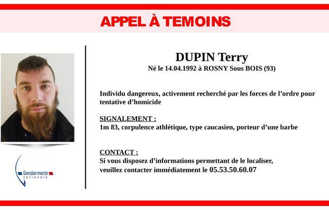 Appel à témoins lancé par la gendarmerie ce lundi relatif à la chasse à l'homme en Dordogne