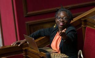 Danièle Obono, députée de la France insoumise, à l'Assemblée nationale.