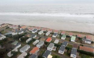 A Soulac-sur-Mer,les prix de l'immobilier sont en baisse de 4,6 %, en partie à cause de l'érosion des côtes. Photo : Sebastien Ortola