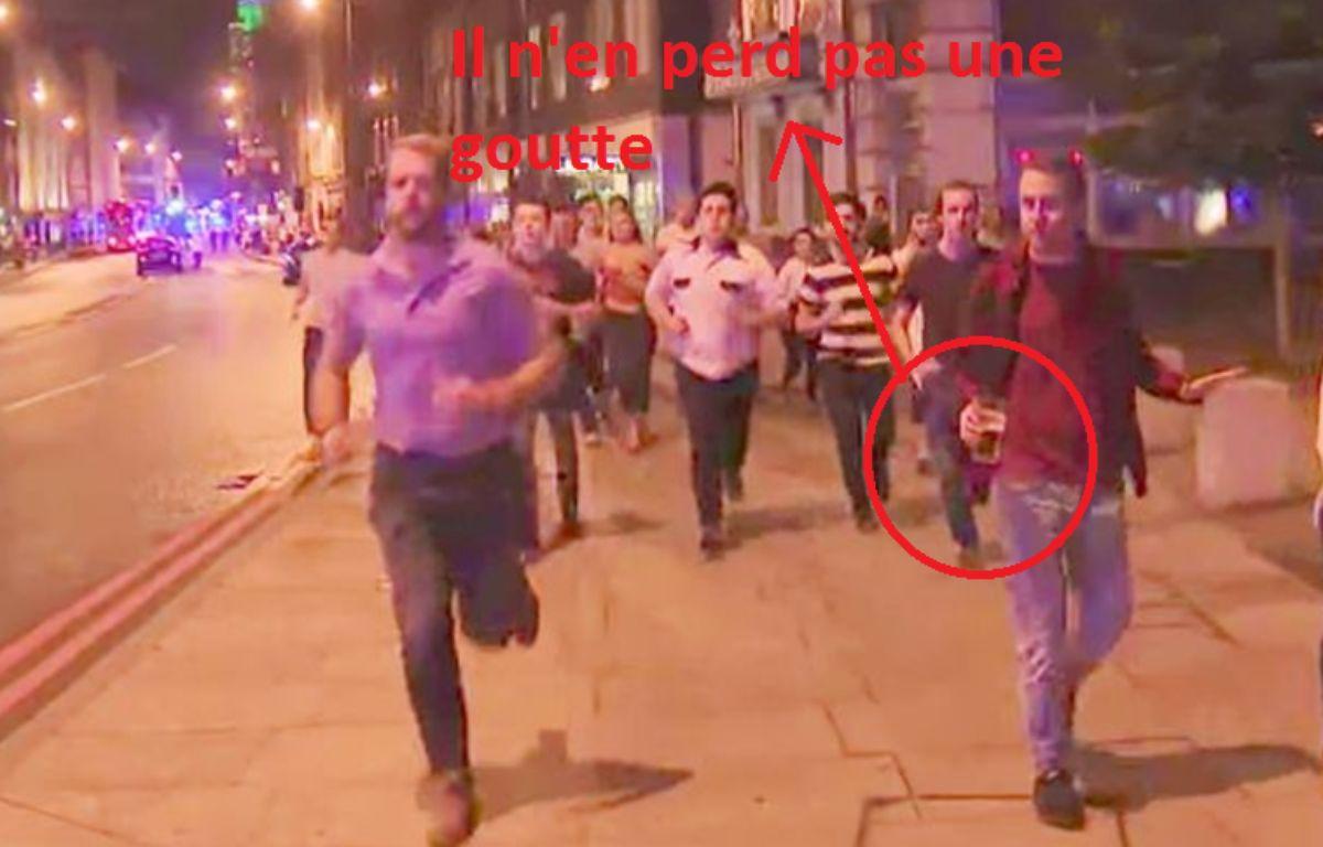 Le héros des attentats de Londres – Capture d'écran