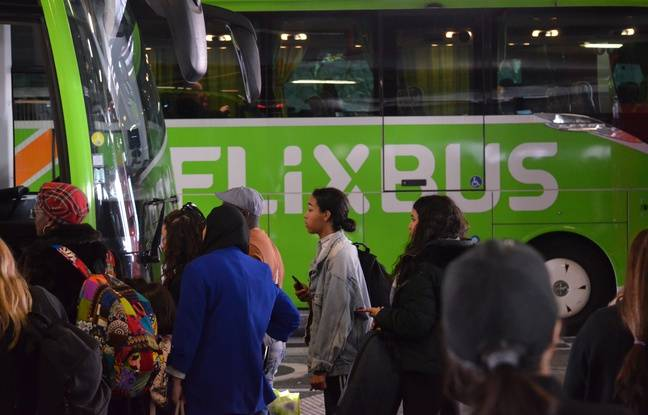 Photo d'un car Flixbus, ici à la gare de Lyon Perrache ce lundi.