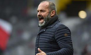 Pascal Dupraz, l'entraîneur du TFC, lors du match de Coupe de France contre Nice, le 6 janvier 2018 au Stadium de Toulouse.
