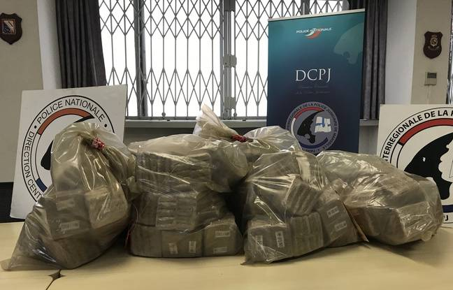 La saisie de 90 kg de résine de cannabis réalisée par la DIPJ de Marseille.