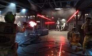Des batailles au pistolet laser dans Star Wars Battlefront.