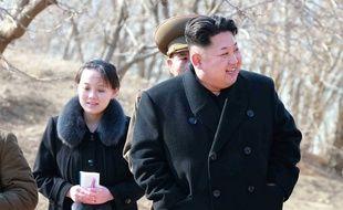 Kim Jong-un et sa soeur Kim Yo-Jong