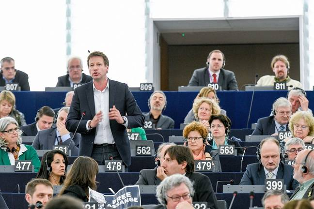 Yannick Jadot au Parlement européen, le 16 avril 2019.