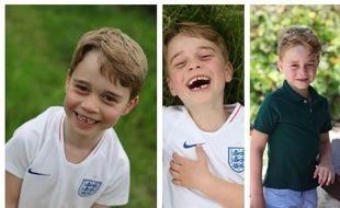 Prince George fête ses six ans en photo. Montage