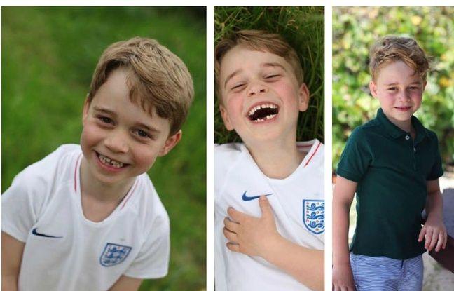 Le prince George en maillot de foot pour ses six ans