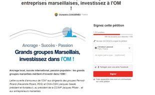 La pétition lancée par cinq supporters de l'OM