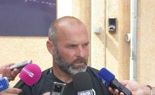 Pascal Dupraz, l'entraîneur du TFC, lors de la reprise de l'entraînement, le 22 juin 2017 au centre technique du Stadium de Toulouse.