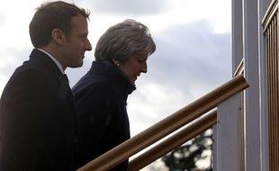 Theresa May et Emmanuel Macron