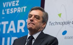 François Fillon, candidat Les Républicains à la présidentielle, le 7 février 2017 à Troyes