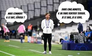 L'entraîneur de l'OM André Villas-Boas fonctionne avec une boule de cristal.