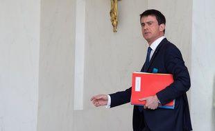 Le Premier ministre Manuel Valls à l'Elysée le 11 mars 2015.