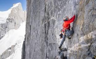 Mathieu Maynadier, ici dans une ascension l'été dernier en pleine vallée inexplorée de Tagas au Pakistan.