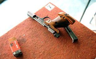Illustration d'une arme de type 22 long rifle.