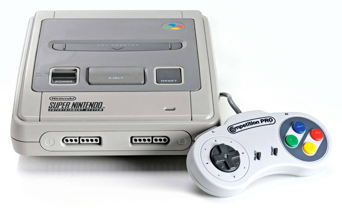 La console Super Nintendo. – Neil Godwin/Future Publ/REX/SIPA