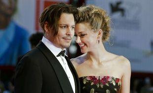 Johnny Depp et Amber Heard, le 5 septembre 2015, à Venise.